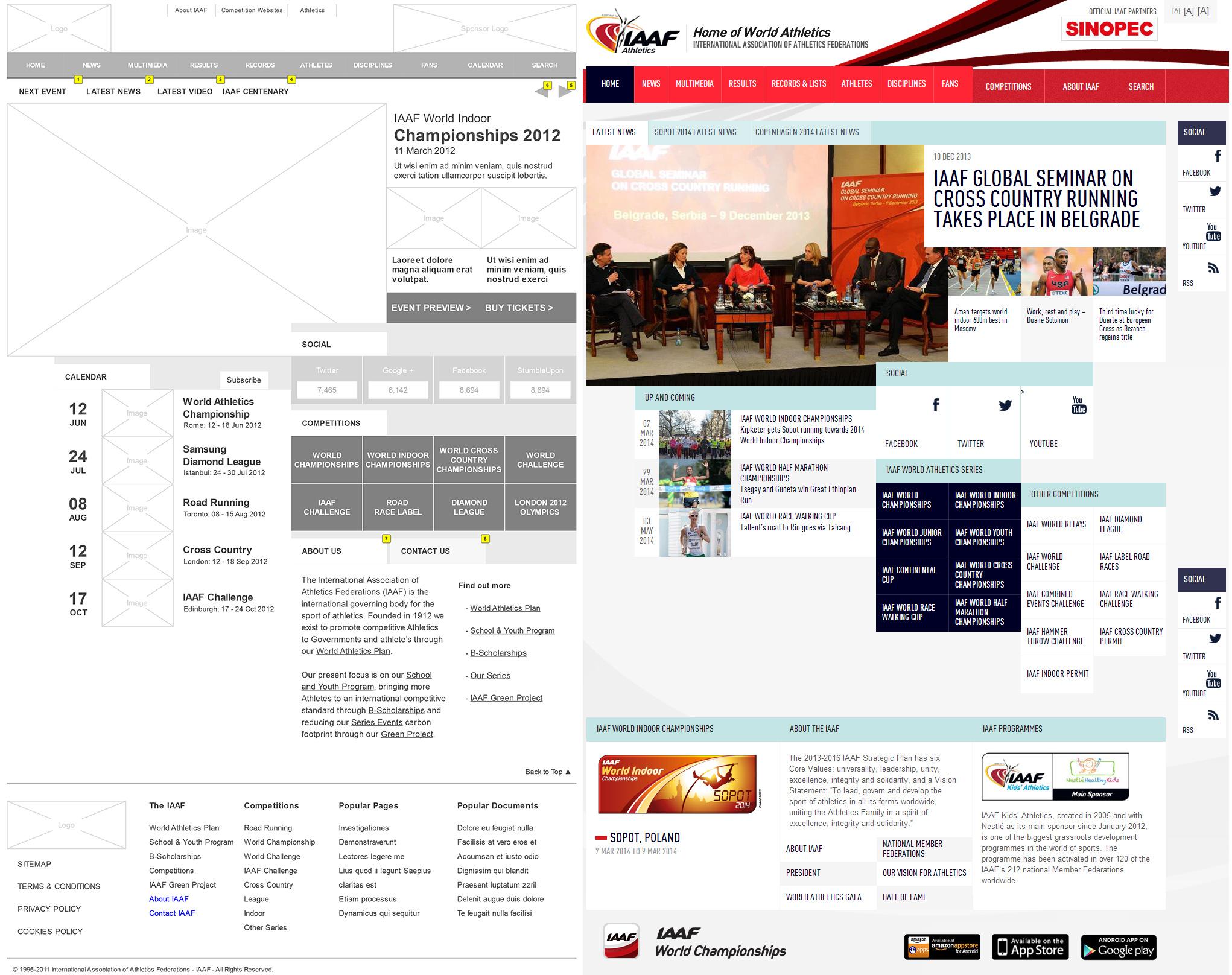 IAAF Website